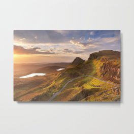 II - Sunrise at Quiraing, Isle of Skye, Scotland Metal Print