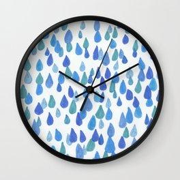Rain Drops keep falling Wall Clock