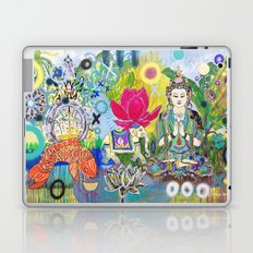 Green Tara in Paradise Laptop & iPad Skin
