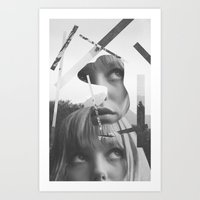 She left pieces of her life Art Print