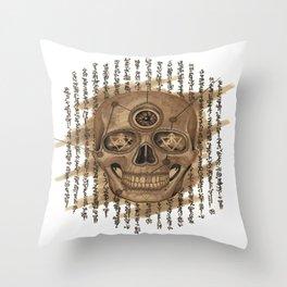 Life Skull Throw Pillow