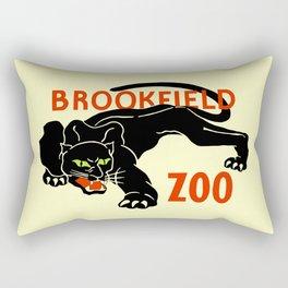 Black panther Brookfield Zoo ad Rectangular Pillow
