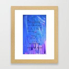 when words fail me Framed Art Print