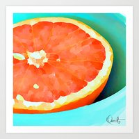 aelwen Art Prints featuring Grapefast by Xchange Art Studio