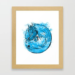 Dragon Waves Framed Art Print