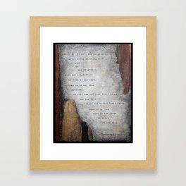 Buechner I Framed Art Print