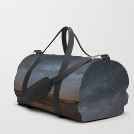 Across the Universe - Milky Way Galaxy Above Mesa in Arizona Duffle Bag