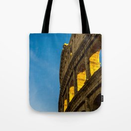 Sunset Over The Roman Colosseum. Tote Bag