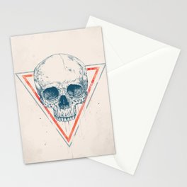 Skull in triangle II Stationery Cards