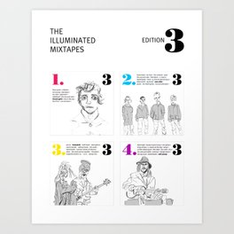 The Illuminated Mixtapes, Edition 3 Art Print