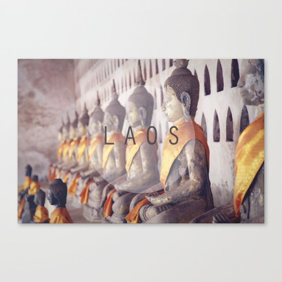 COUNTRY SERIES - LAOS Canvas Print