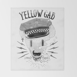 Bad Taxi Driver Throw Blanket