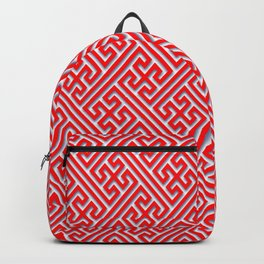 Traditional Pattern from Buddha Symbol N1 Red Backpack