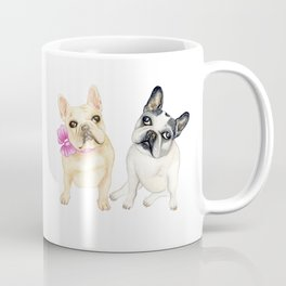 French Bulldogs adorable head tilt fawn and black and white frenchies must have gift for pet lovers Coffee Mug