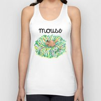 theatre Tank Tops featuring Theatre Mouse by Rebecca Rogers