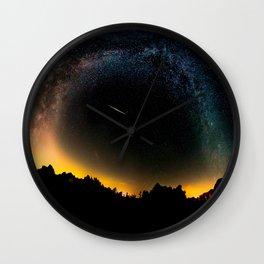 Milky Way & Perseid Meteor Shower - Joshua Tree 2016 Wall Clock
