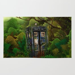 Abandoned Tardis doctor who in deep jungle iPhone 4 4s 5 5s 5c, ipod, ipad, pillow case and tshirt Rug