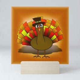 Thanksgiving Turkey Pilgrim Mini Art Print