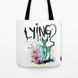 Lying Cat Tote Bag