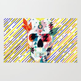 Abstract Skull Rug
