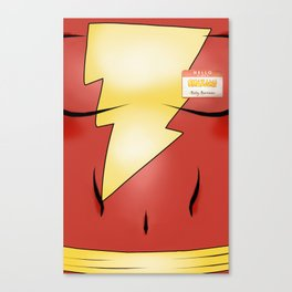Hello my Name is Shazam! Canvas Print