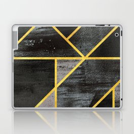 Geometric gold lines Laptop & iPad Skin