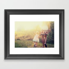 mother with child Framed Art Print