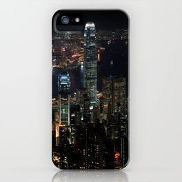 Hong Kong By Night iPhone Case