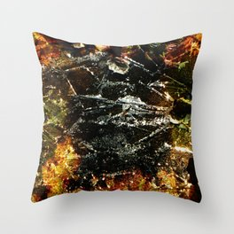 Cracks Throw Pillow