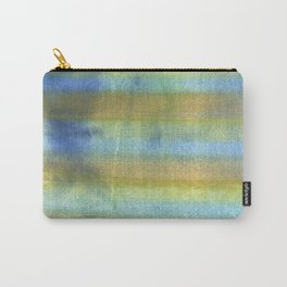 Yellow blue abstract rainbow painting Carry-All Pouch