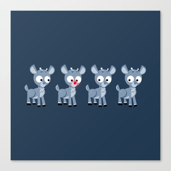 Hey look, it's Rudolph! Canvas Print