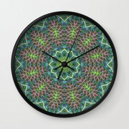 Fern frond lace kaleidoscope Wall Clock