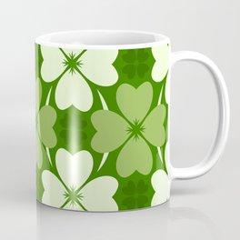 St. Patrick Day Clover 5 - Green Pattern Coffee Mug