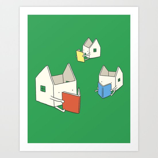 Every house has it's own story Art Print