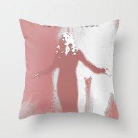 buffy the vampire slayer Throw Pillows featuring Buffy the Vampire Slayer - OMWF by Laura