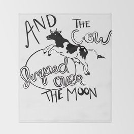 Flying Cow  Throw Blanket