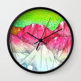 The watermelon hills Wall Clock