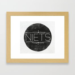 Niets Framed Art Print