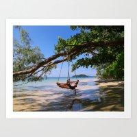Crusoe Island Art Print