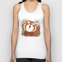 red panda Tank Tops featuring Panda by Toru Sanogawa