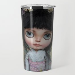 Japanese Doll by Erregiro Travel Mug