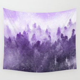 Ultra Violet Adventure Forest Wall Tapestry