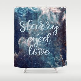 Starry Eyed Love Shower Curtain