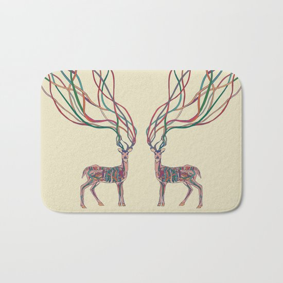 Deer Ribbons Bath Mat