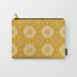 Happy Sunshine - yellow art, sunshine, boho art, bohemian, tile, home decor, yellow, yellow art print Carry-All Pouch