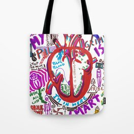 My Heart is Smart Tote Bag