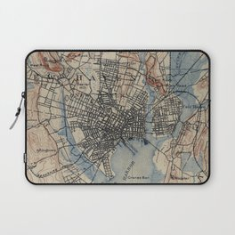 Vintage Map of New Haven Connecticut (1890) Laptop Sleeve