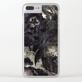 goth peony Clear iPhone Case