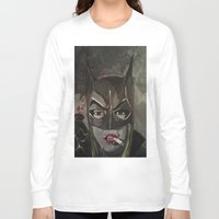 gotham Long Sleeve T-shirts featuring Gotham Vixen by Paintings That Pop