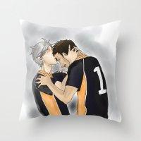 haikyuu Throw Pillows featuring Defeated Haikyuu!! by Pruoviare